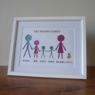 Personalised Family Framed Papercut