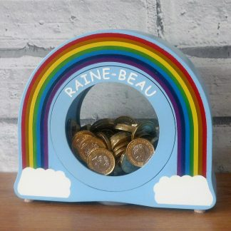 Personalised Rainbow Money Box