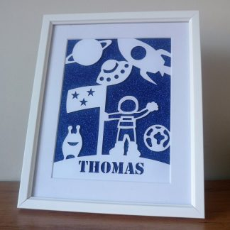 Personalised Space Framed Papercut